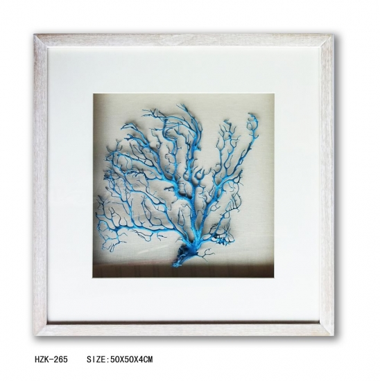 Natural seafan blue shadow box