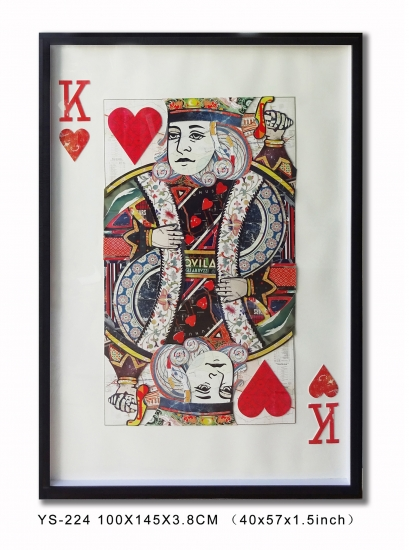 Collage Art Playing Card, Wall Art 3D Prints