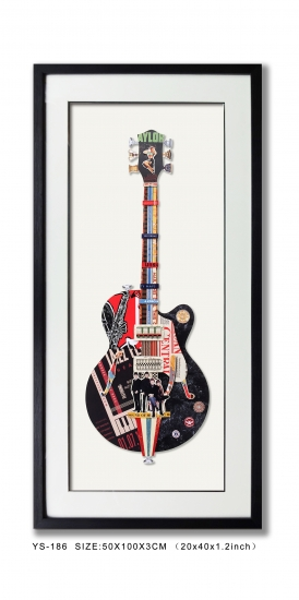 Collage Art Wall Decor Guitar