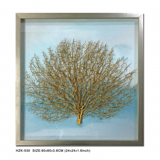 Gold Seafan Shadow Box