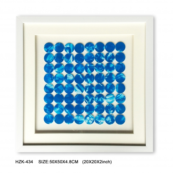 Blue Dots Shadow Box