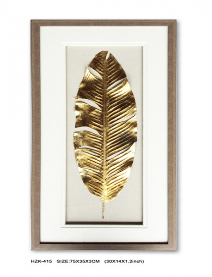 Gold Leaf Shadow Box