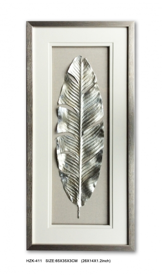 Silver Leaf Shadow Box