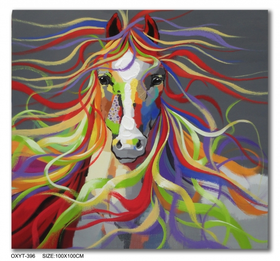 Colored Horse Oil Painting