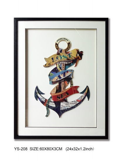 Collage Art 3D Layer Art Wall Decoration About Anchor