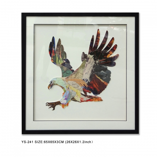 Collage Art Eagle, Wall Art 3D Prints