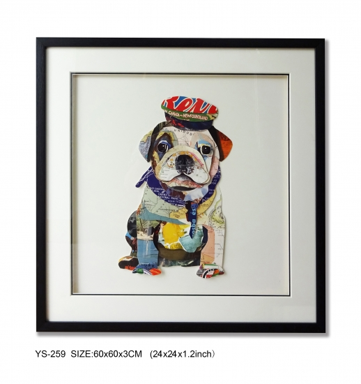 Collage Art 3D Layer Art Wall Decoration About lovely dog