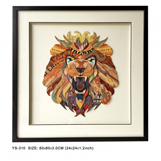 Lion head 3D paper artwork