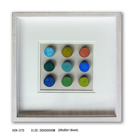 Round Wood Block 9pcs Shadow Box