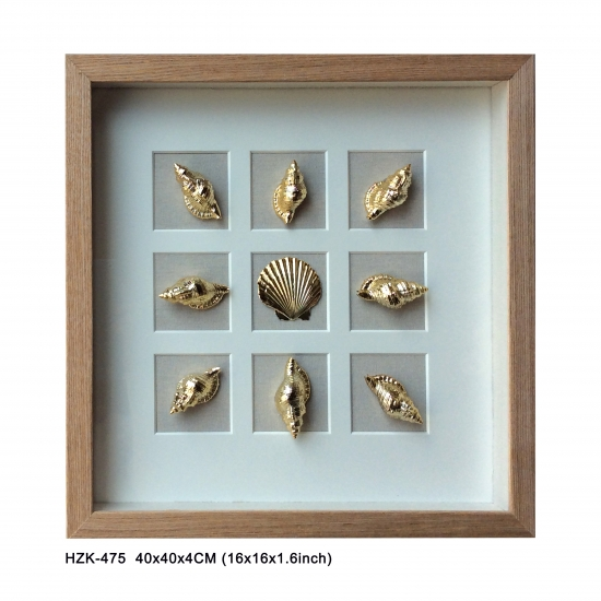 Gold Shell Shadow Box