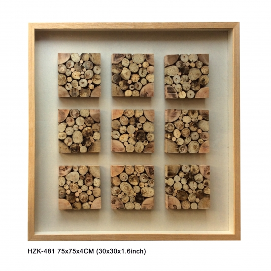 Wood Blocks 9pcs Shadow Box