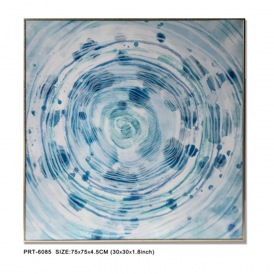Blue Circle Canvas Print Art