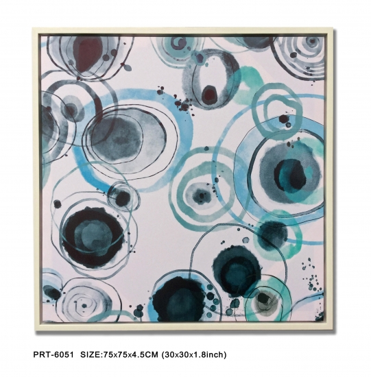 Blue Circle Canvas Print