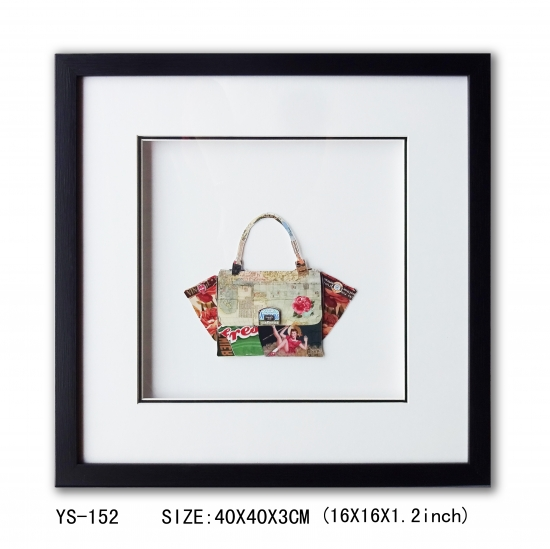 Paper collage art of the fashion bag