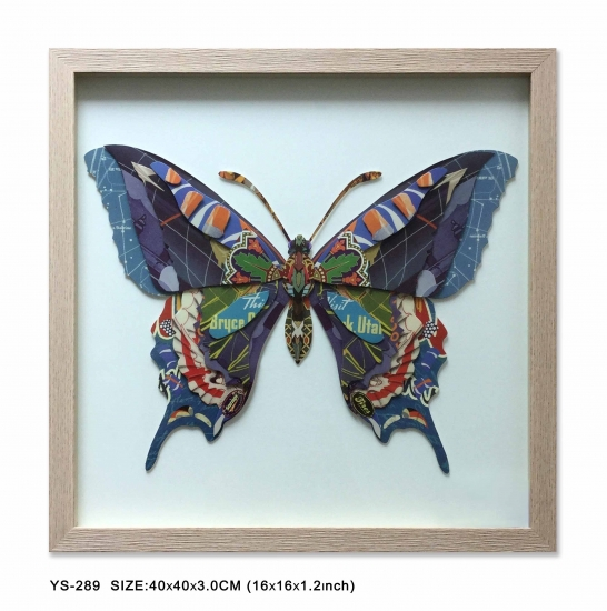 Butterfly Wall Pictures with wood frame