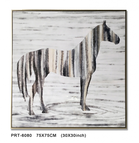 bstract Zebra Printed art Canvas