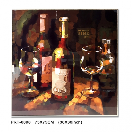 The wine bottle gallery wrapped Canvas Print Art