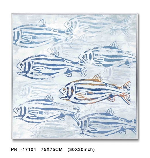 Abstract Fish Style Modern Printed Artwork