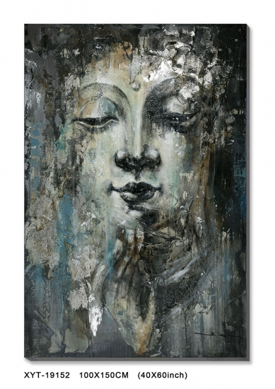 buddha abstract oil painting